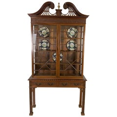 Late 19th Century Mahogany Display Cabinet in the Chippendale Style
