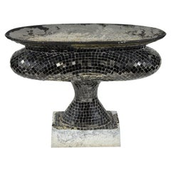 Late 19th Century Marble Urn with Glass Mosaic Decoration