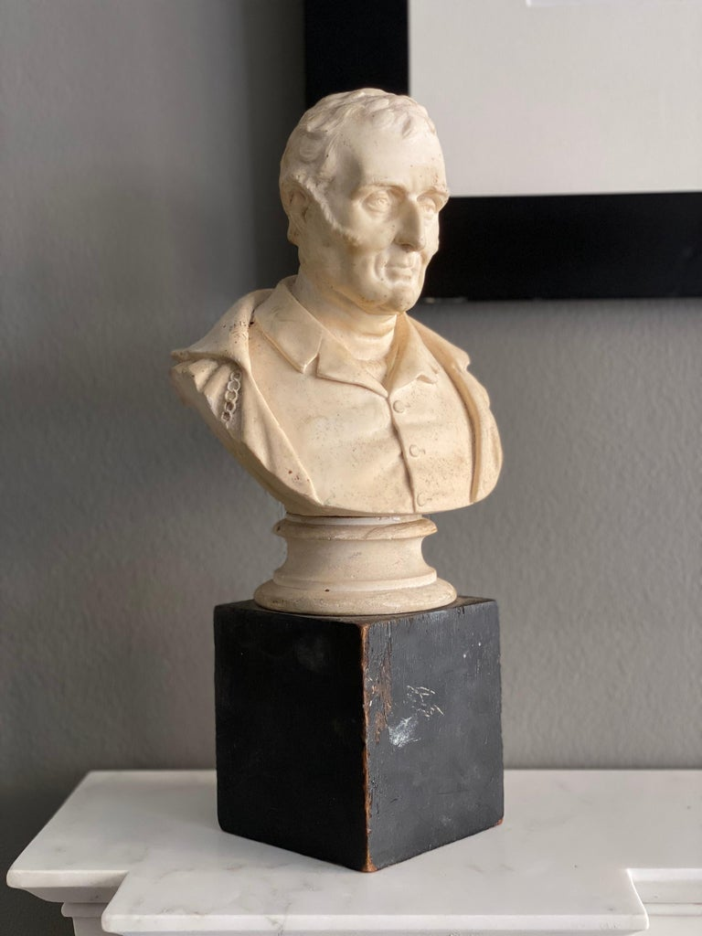 Late Victorian Late 19th Century Plaster Bust of the Duke of Wellington