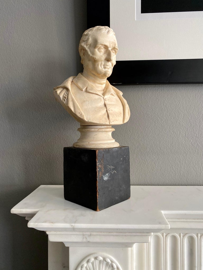 English Late 19th Century Plaster Bust of the Duke of Wellington