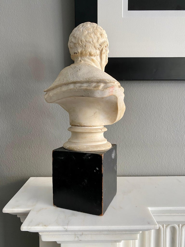 Late 19th Century Plaster Bust of the Duke of Wellington In Good Condition In London, GB