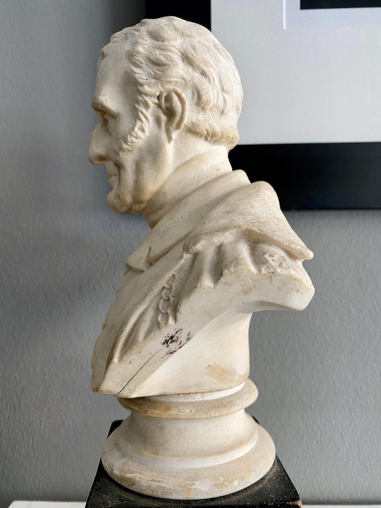 Late 19th Century Plaster Bust of the Duke of Wellington 3