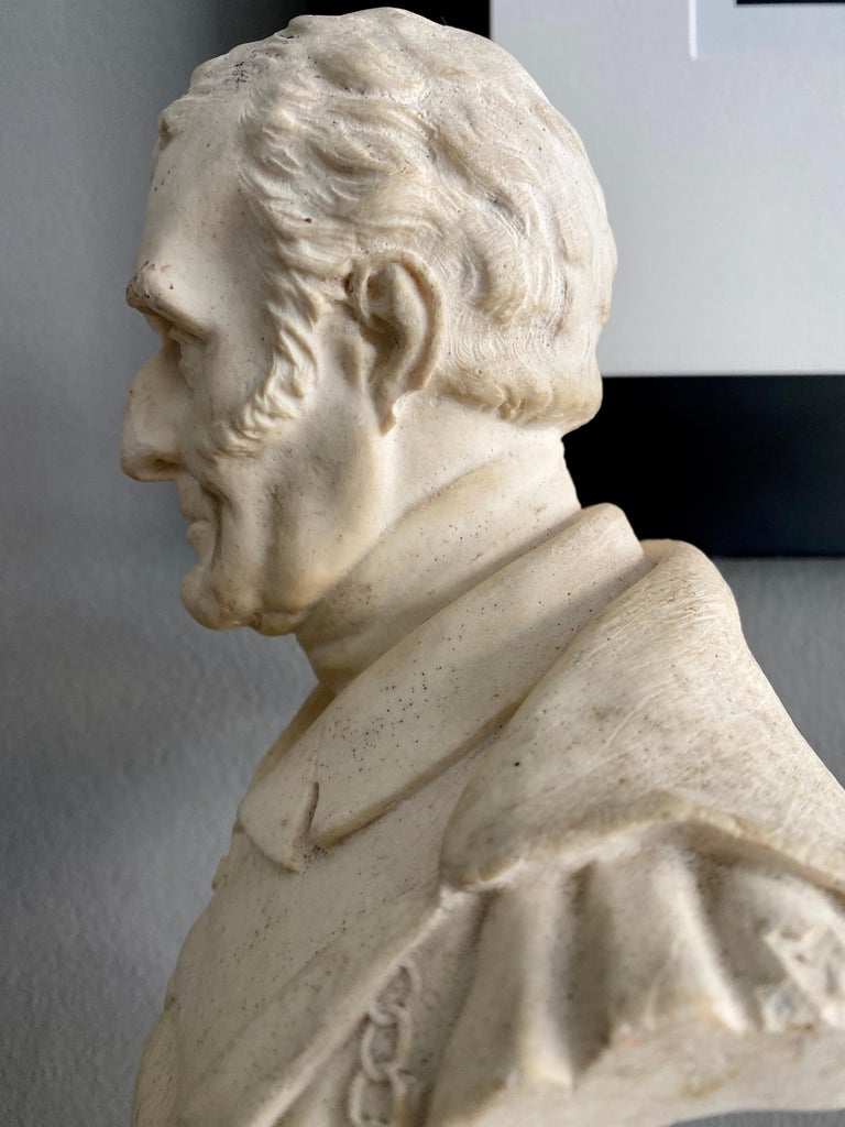 Late 19th Century Plaster Bust of the Duke of Wellington 4