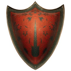 Late 19th Century Red Indian Shield