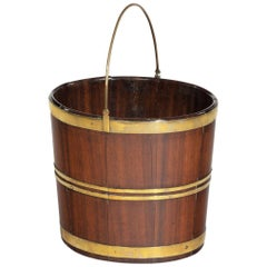 Late George III Brass Bound Bucket