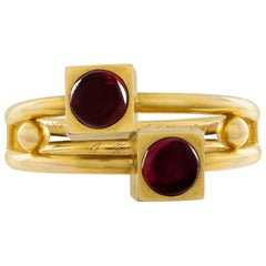 Late 19th Century Gold and Garnet Bangle