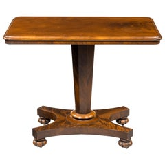 Late Regency Period Centre Standing Occasional Table