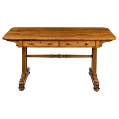 Late Regency Rosewood End Support Table Gillows or Holland and Sons