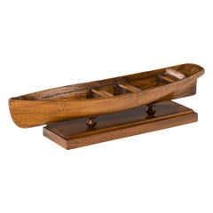Late Victorian Mahogany Rowing Boat Model