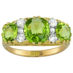 Late Victorian Three-Stone Peridot Ring