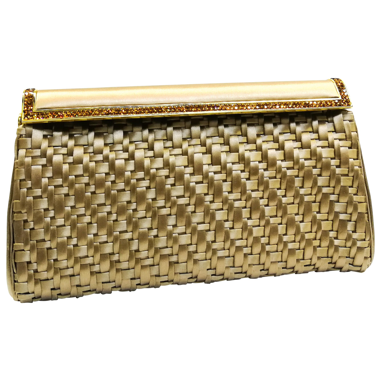 A latticed silk and paste evening bag, Judith Lieber, 1980s, USA