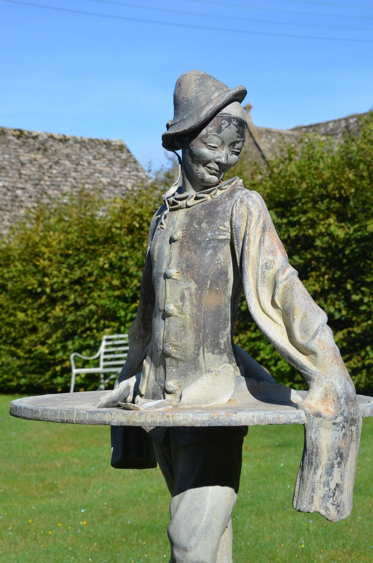 Lead Figure of Pierrot by Gertrude Knoblock, 1880-1964 In Good Condition In Cheltenham, Gloucestershire
