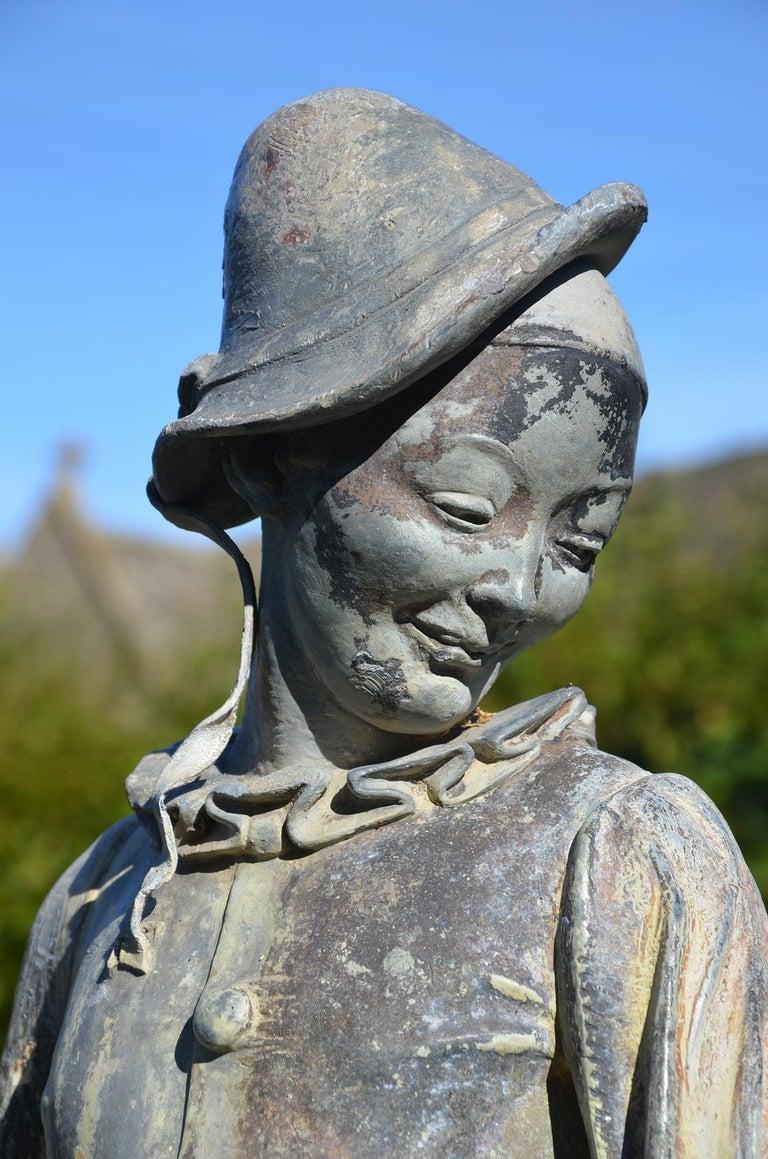 20th Century Lead Figure of Pierrot by Gertrude Knoblock, 1880-1964