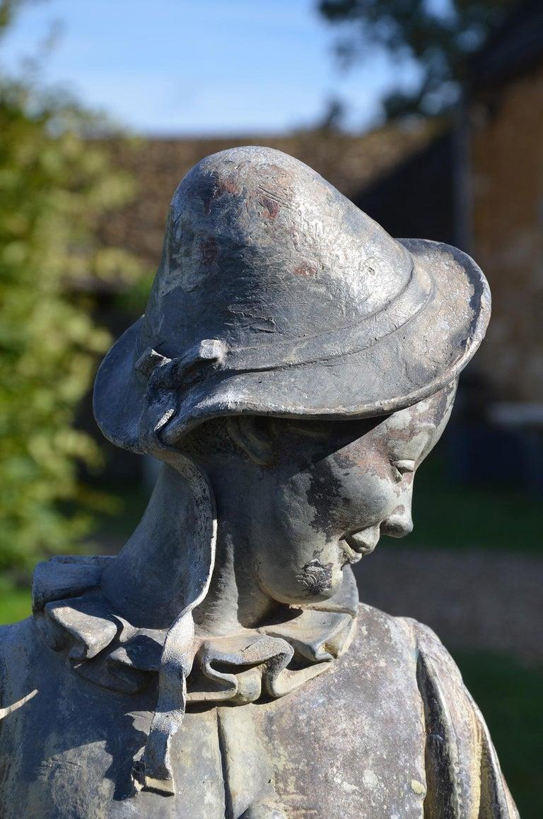 Lead Figure of Pierrot by Gertrude Knoblock, 1880-1964 1