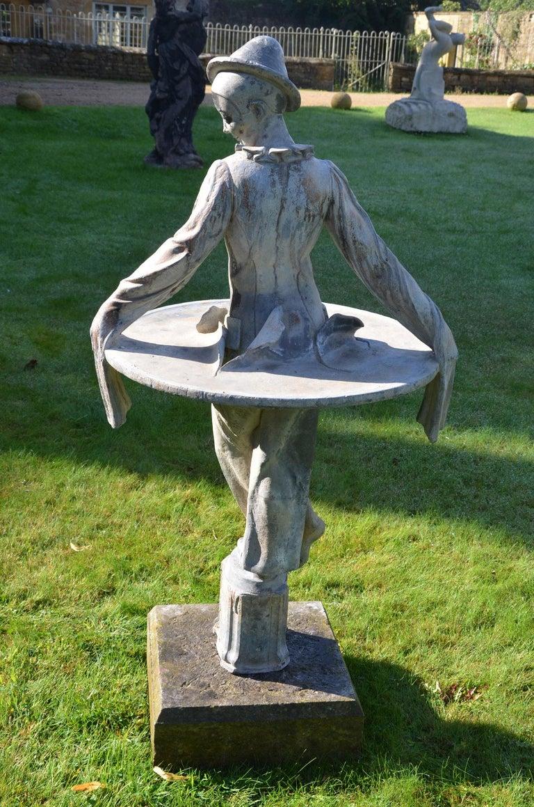 Lead Figure of Pierrot by Gertrude Knoblock, 1880-1964 3
