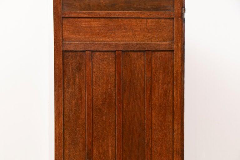 Early 20th Century Art Nouveau Liberty & Co. Oak Arts & Crafts Three Fold Screen For Sale 1