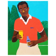 'A Light Refreshment' Portrait Painting by Alan Fears Pop Art