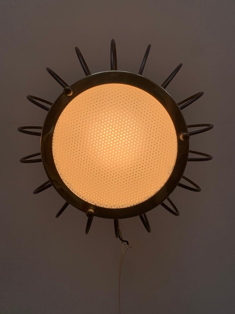 Mid-Century Modern Lightolier Pendant Chandelier For Sale