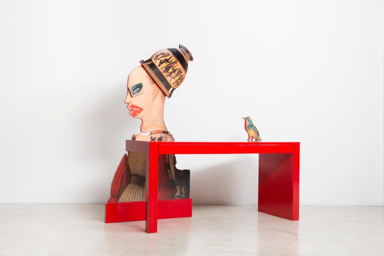 American Little Bird Told Me Desk by Mattia Biagi For Sale