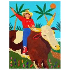 'A Little Positive Reinforcement' Portrait Painting by Alan Fears Pop Art