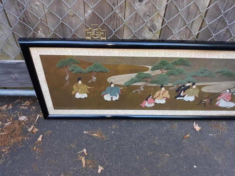 A l=Large Antique Horizontal Japanese Painting For Sale 3