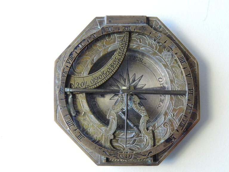 Carved Lorenz Grassl Augsburg Dial, German, Late 18th Century For Sale