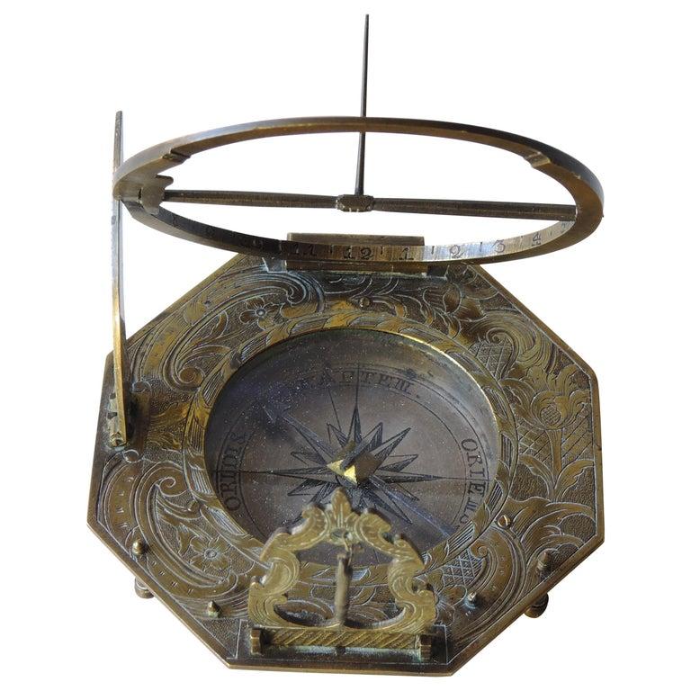 Lorenz Grassl Augsburg Dial, German, Late 18th Century For Sale