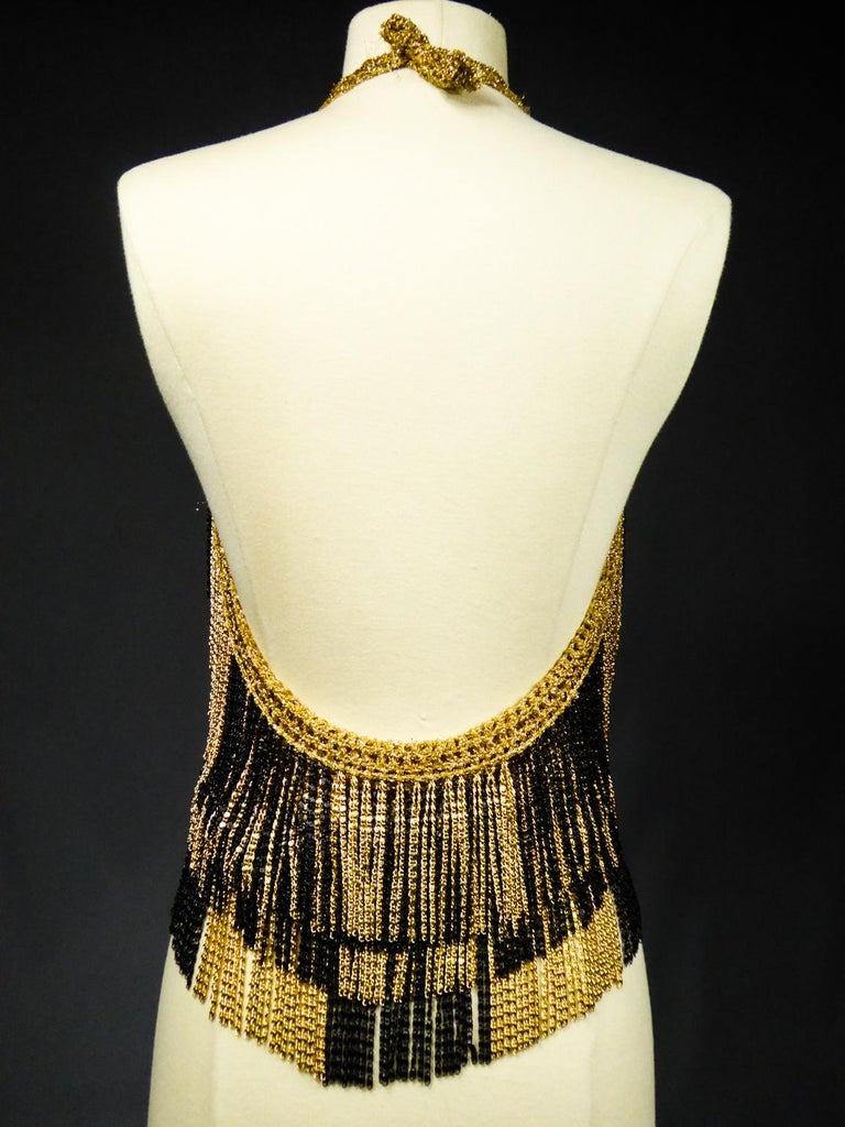 A Loris Azzaro French Couture Top in Lurex  Circa 1970 For Sale 5