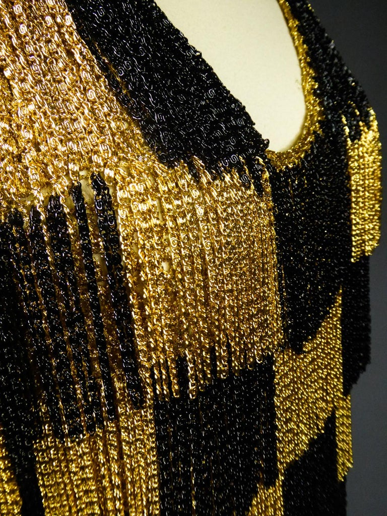 A Loris Azzaro French Couture Top in Lurex  Circa 1970 For Sale 8