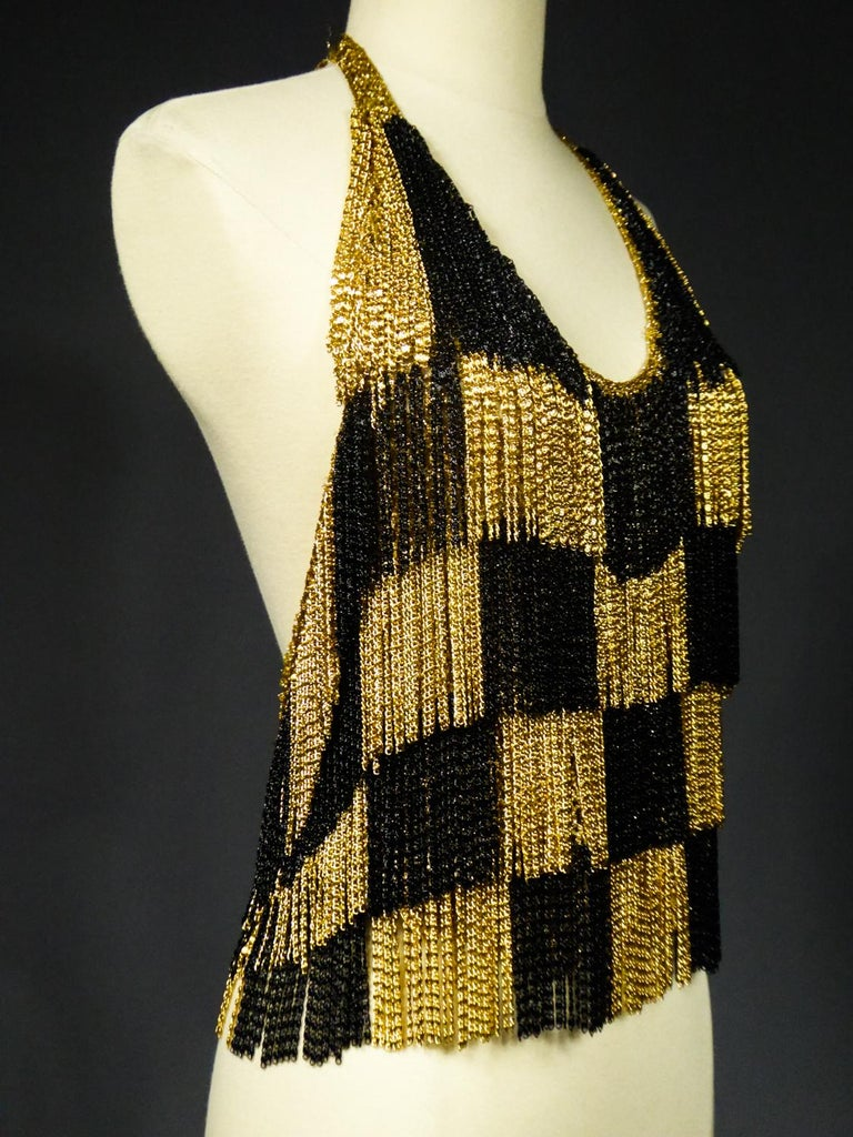 Women's A Loris Azzaro French Couture Top in Lurex  Circa 1970 For Sale