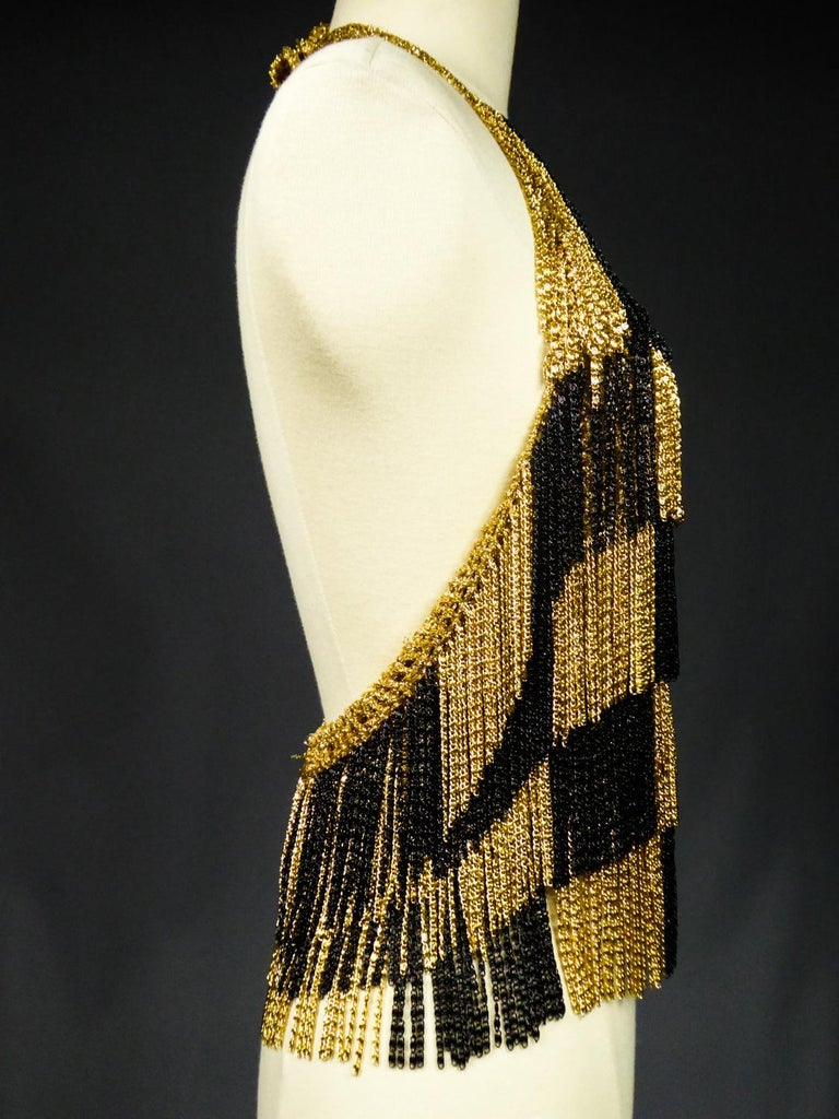 A Loris Azzaro French Couture Top in Lurex  Circa 1970 For Sale 3