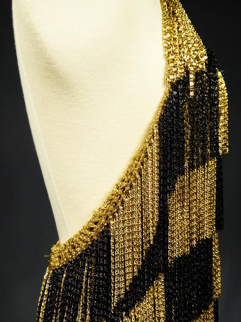 A Loris Azzaro French Couture Top in Lurex  Circa 1970 For Sale 4