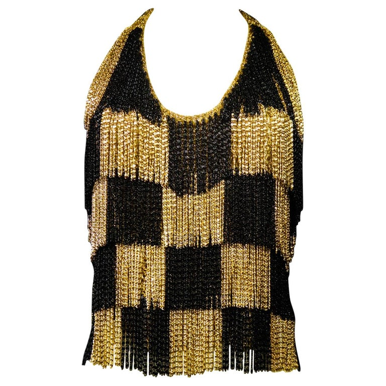 A Loris Azzaro French Couture Top in Lurex  Circa 1970 For Sale