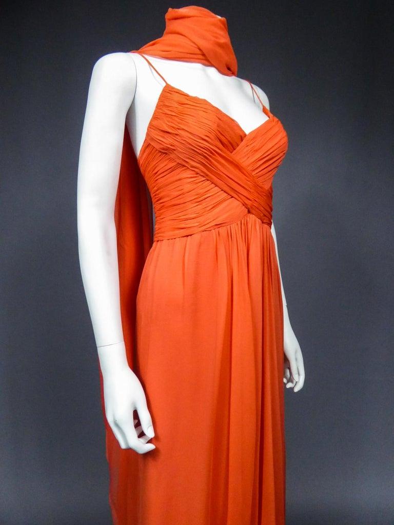 A Loris Azzaro Haute Couture Evening Dress Circa 1980 For Sale 5