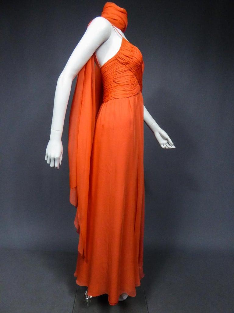 A Loris Azzaro Haute Couture Evening Dress Circa 1980 For Sale 6
