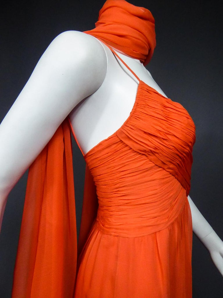 A Loris Azzaro Haute Couture Evening Dress Circa 1980 For Sale 7