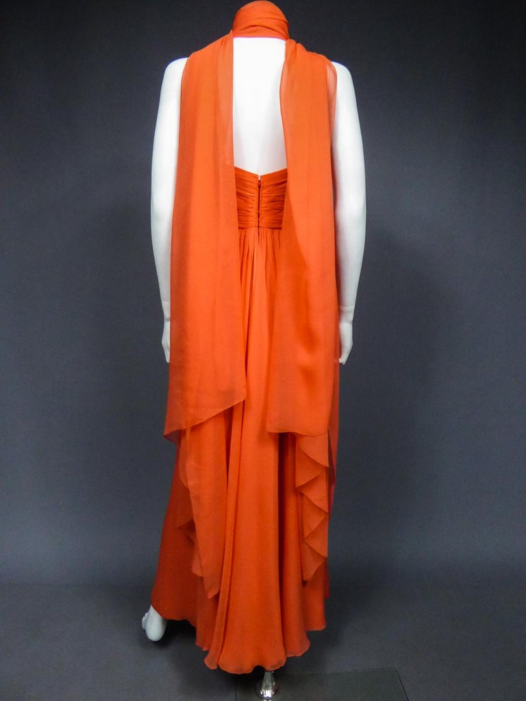 A Loris Azzaro Haute Couture Evening Dress Circa 1980 For Sale 8