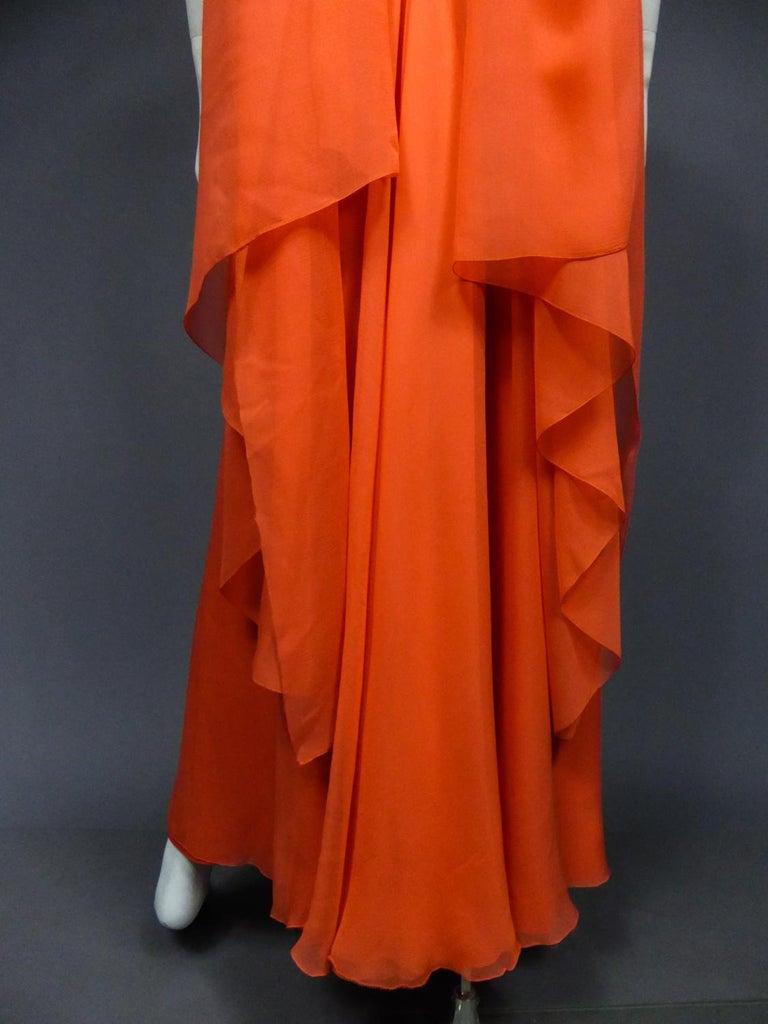 A Loris Azzaro Haute Couture Evening Dress Circa 1980 For Sale 9