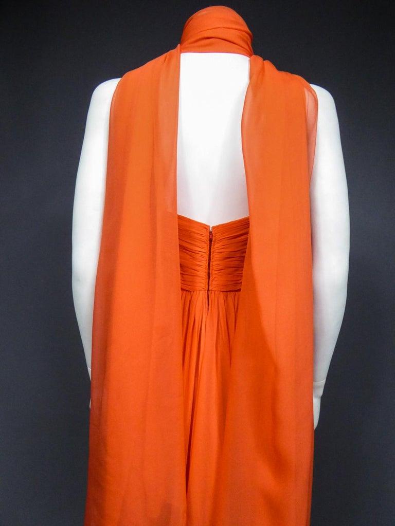 A Loris Azzaro Haute Couture Evening Dress Circa 1980 For Sale 10