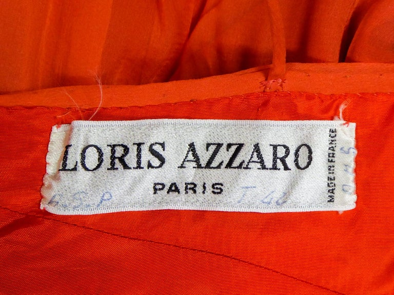 A Loris Azzaro Haute Couture Evening Dress Circa 1980 In Excellent Condition For Sale In Toulon, FR
