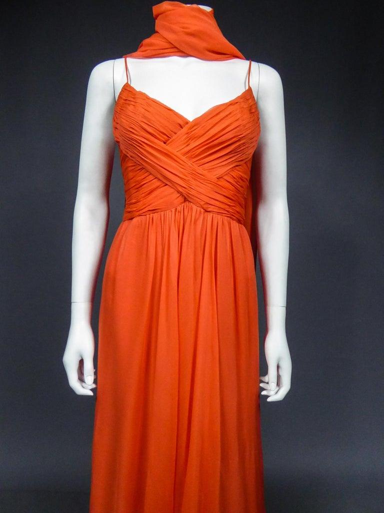 A Loris Azzaro Haute Couture Evening Dress Circa 1980 For Sale 1