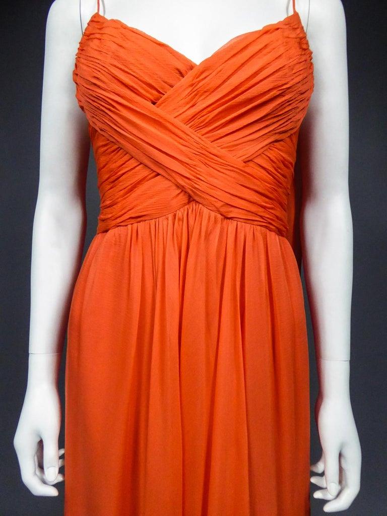 A Loris Azzaro Haute Couture Evening Dress Circa 1980 For Sale 2