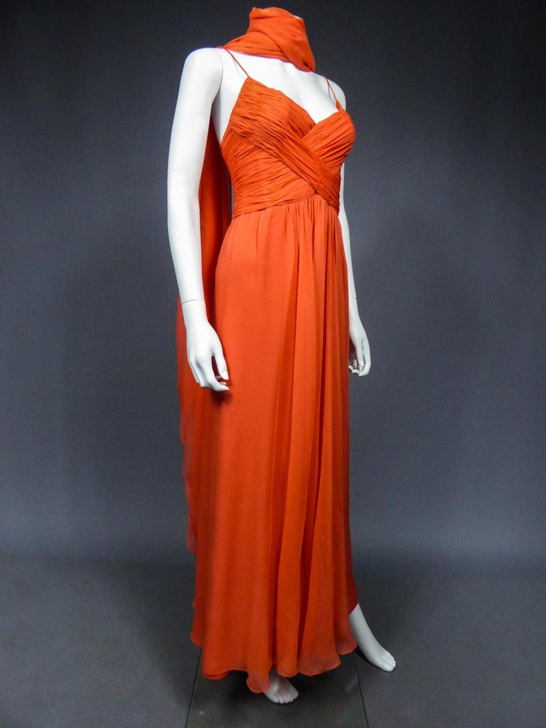 A Loris Azzaro Haute Couture Evening Dress Circa 1980 For Sale 4