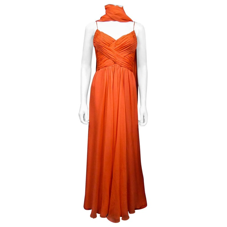 A Loris Azzaro Haute Couture Evening Dress Circa 1980 For Sale