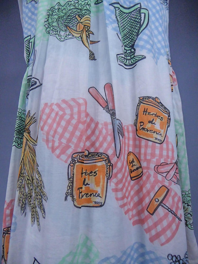 A Louis Féraud Dress in Printed Polyamide Circa 1970 For Sale 6