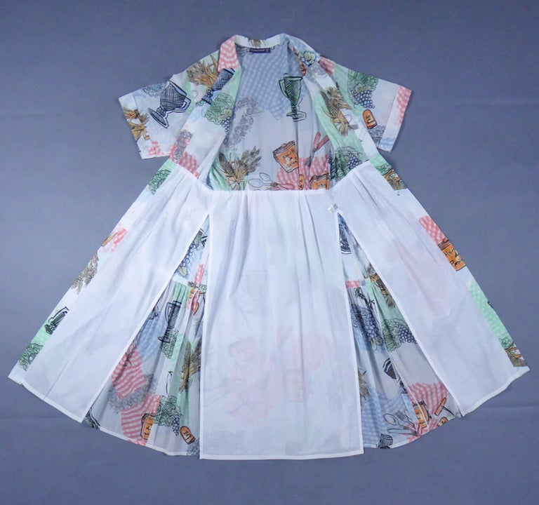 A Louis Féraud Dress in Printed Polyamide Circa 1970 For Sale 8