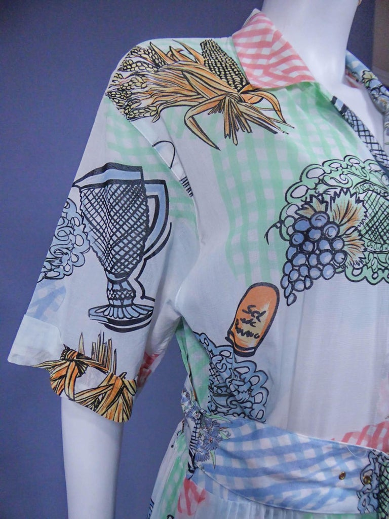 Women's A Louis Féraud Dress in Printed Polyamide Circa 1970 For Sale