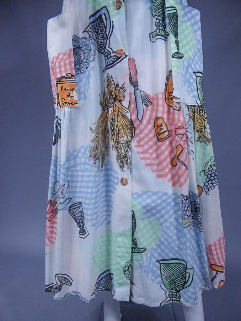A Louis Féraud Dress in Printed Polyamide Circa 1970 For Sale 2