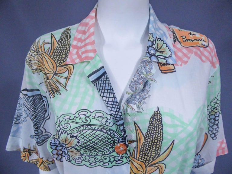 A Louis Féraud Dress in Printed Polyamide Circa 1970 For Sale 5