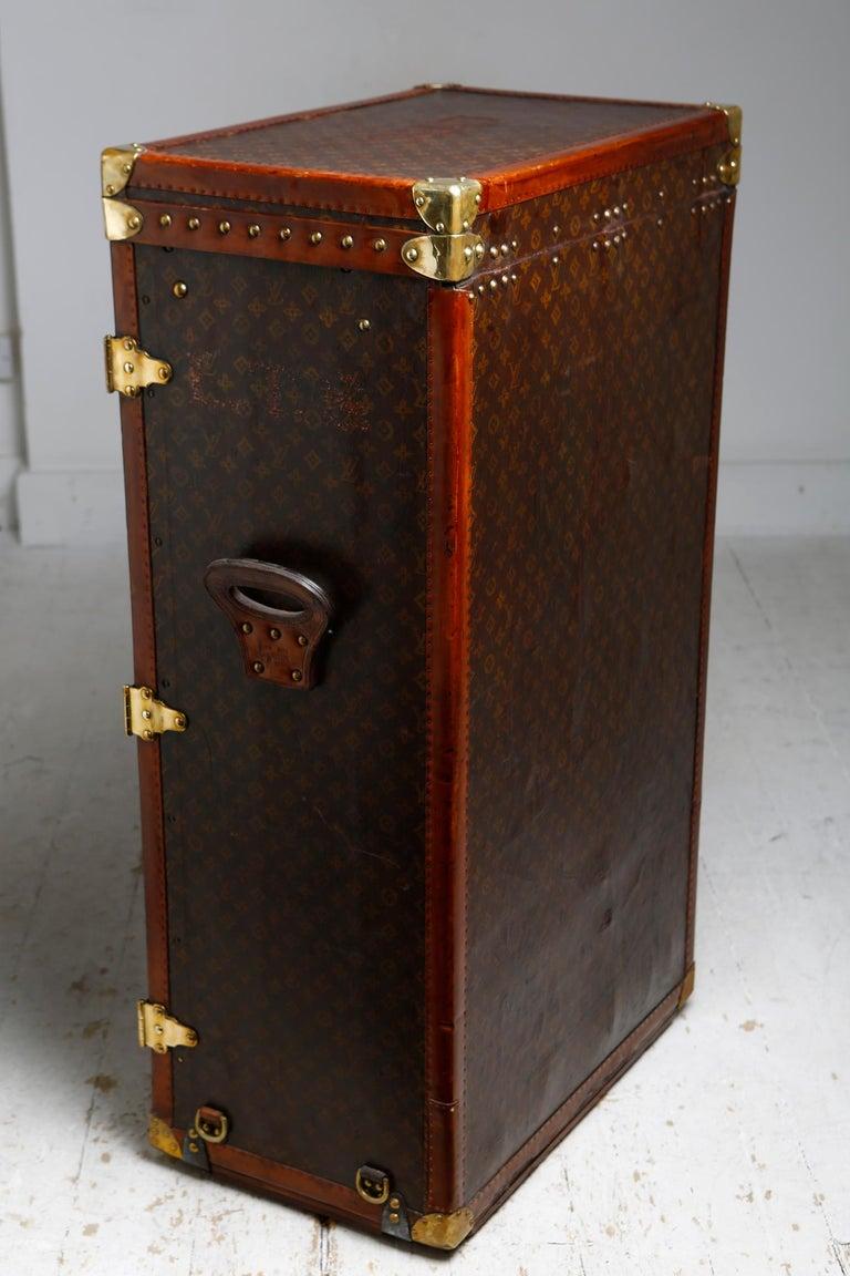 Brass Louis Vuitton Shoe Secretaire, circa 1920 For Sale